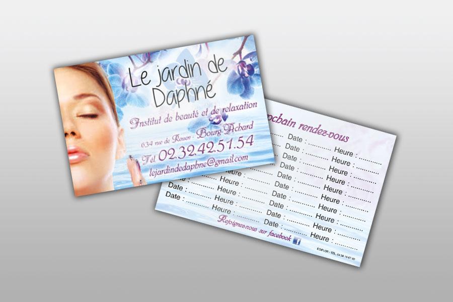 Cartes De Visite Pour Mtiers La Coiffure Beaut Esthtique